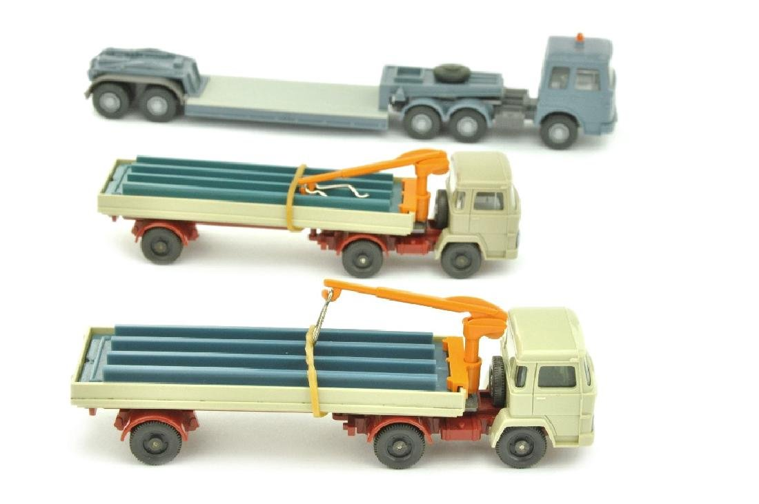 Konvolut 3 Auflieger-LKW der 70er Jahre