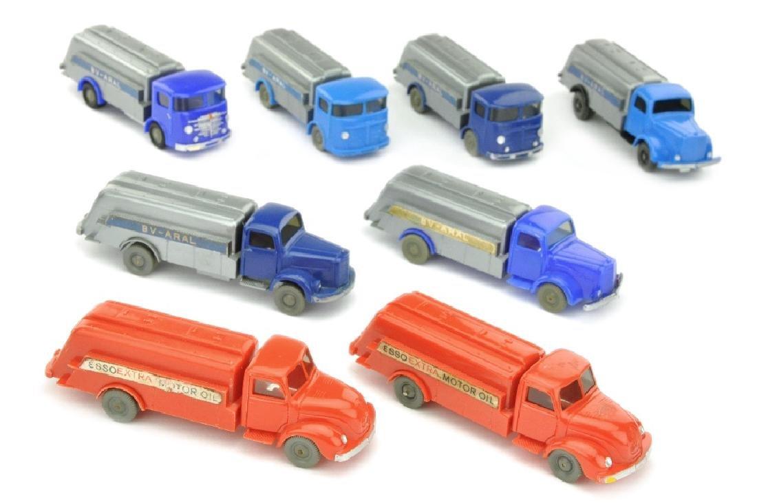 Konvolut 8 Tankwagen der 60er Jahre