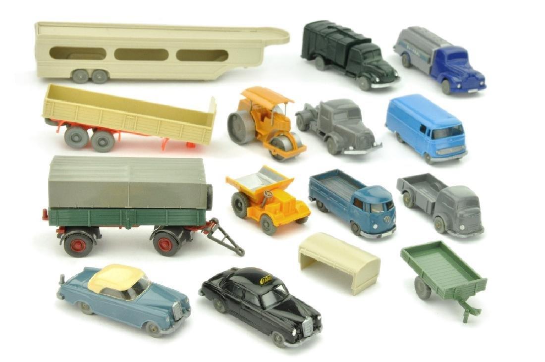 Konvolut ca. 14 Modelle der 50er/60er Jahre