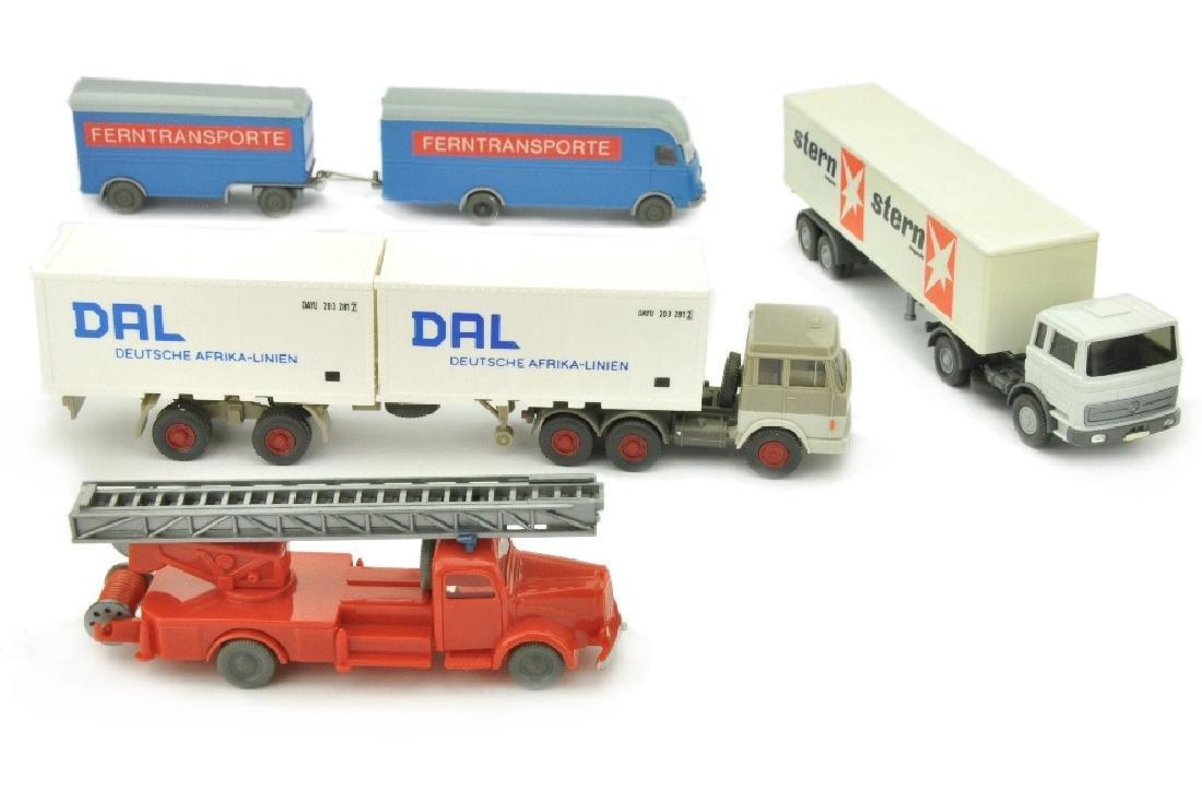 Konvolut 4 Modelle der 60er/70er Jahre