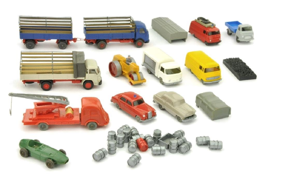 Konvolut 12 Modelle der 50er/70er Jahre