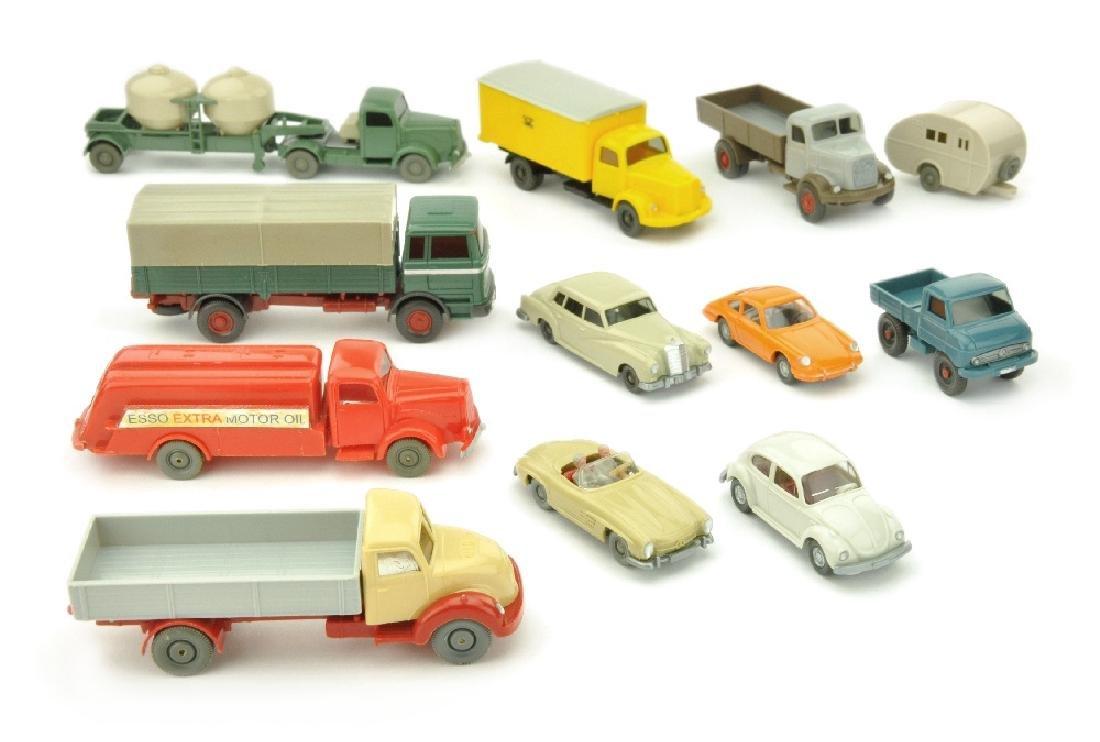 Konvolut 12 Modelle der 60er Jahre