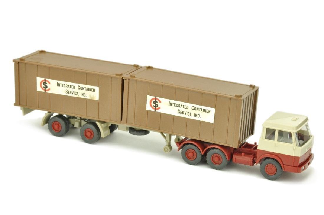 Werbemodell ICS/B - 2*20ft-Container lehmbraun