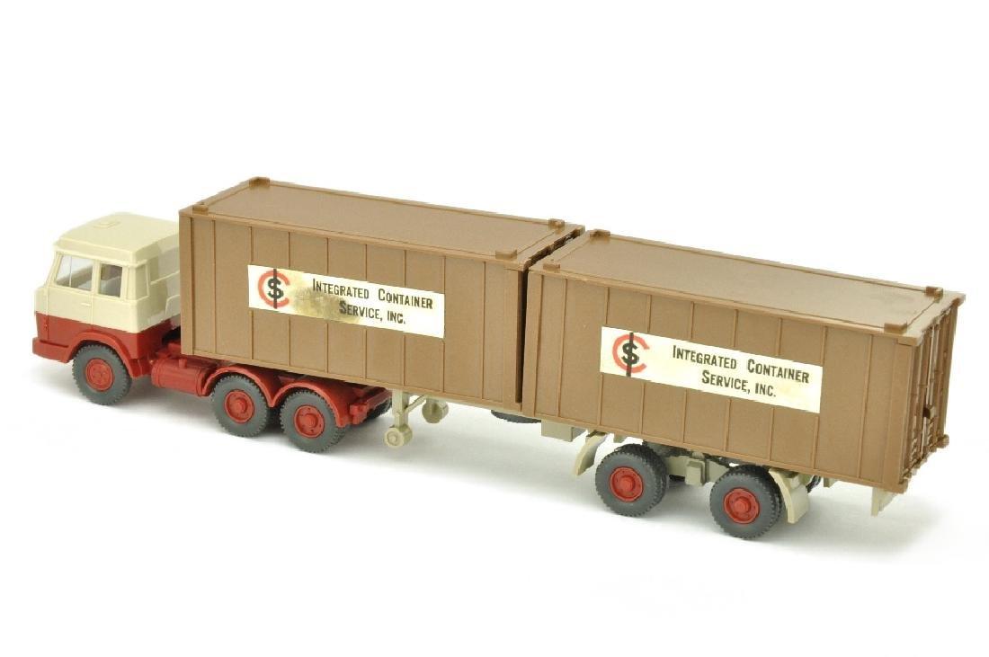 Werbemodell ICS/B - 2*20ft-Container lehmbraun - 2