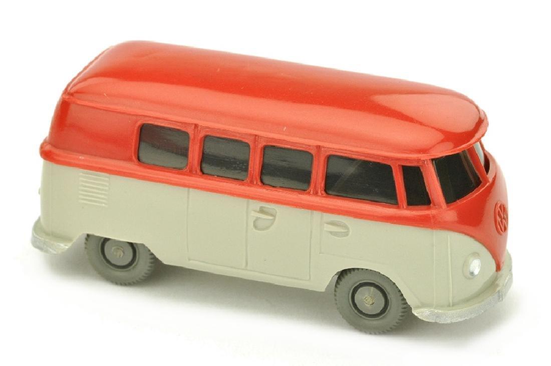 VW T1 Bus (alt), rot/kieselgrau