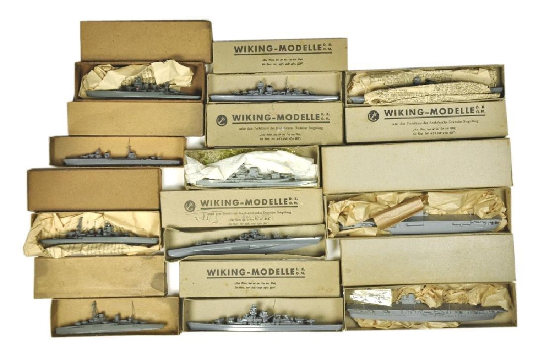 Konvolut 11 Vorkriegs-Kriegsschiffe (im Ork)