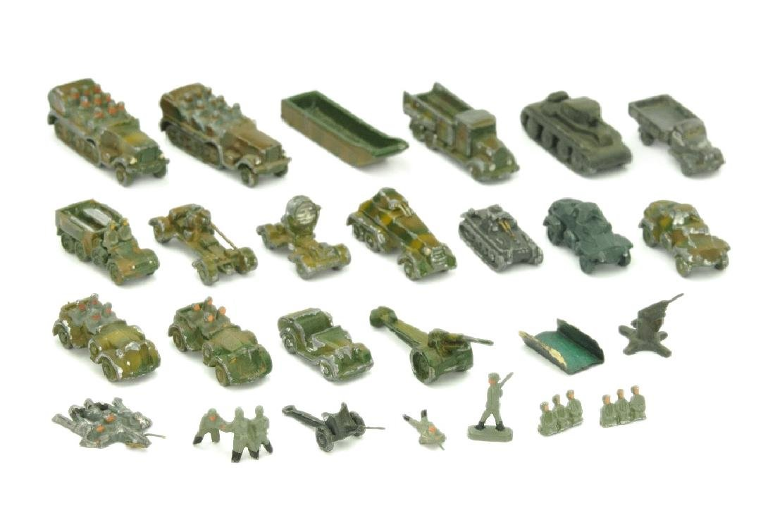 Konvolut 25 Wehrmachtsmodelle (1:200)