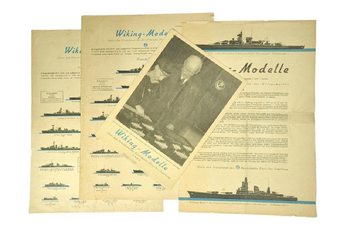 Konvolut 4 Schiffspreislisten (um 1938/39)