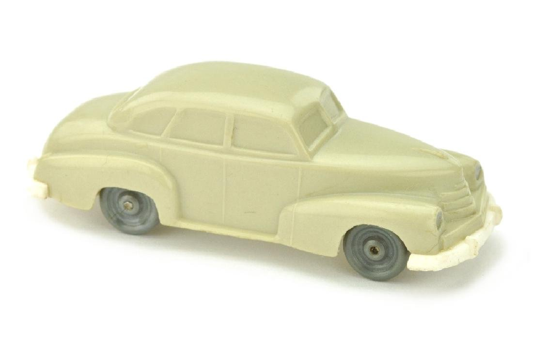 Opel Kapitaen 1951, hellgelbgrau/weiss