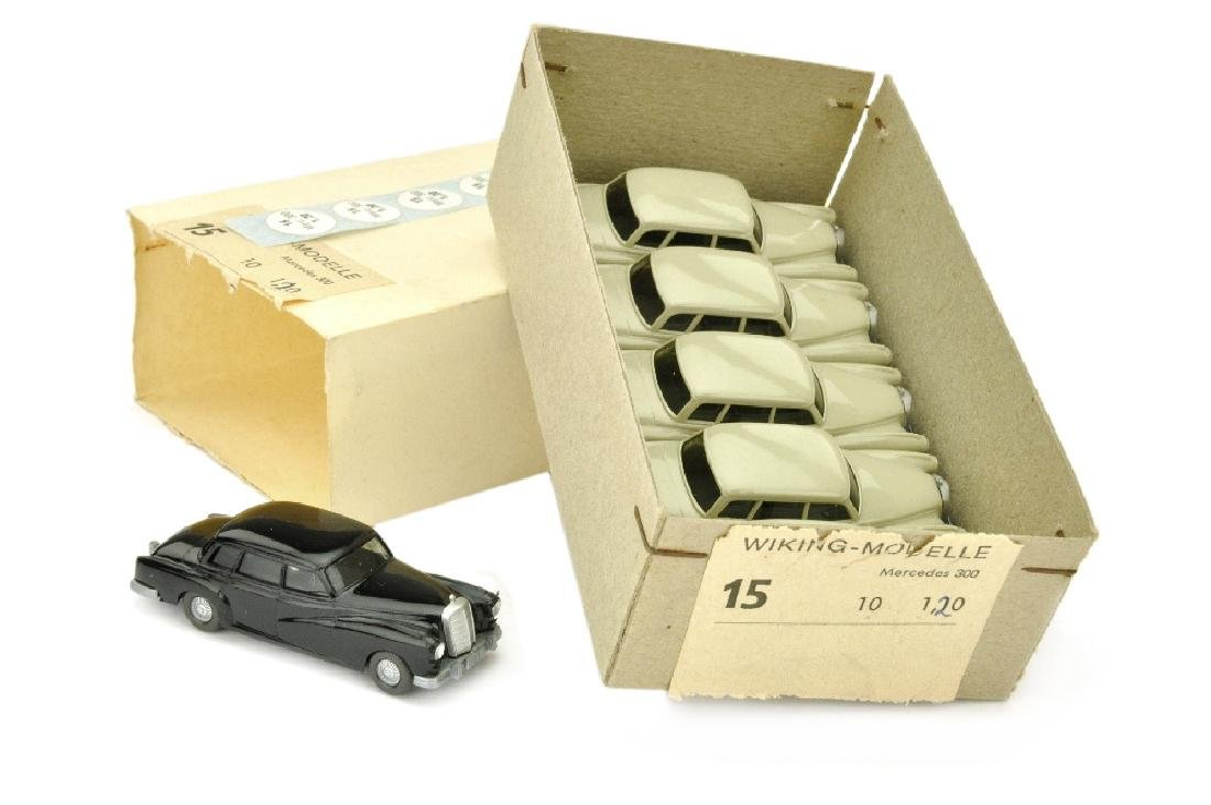 Haendlerkarton mit 6 Mercedes 300 (um 1972/73)
