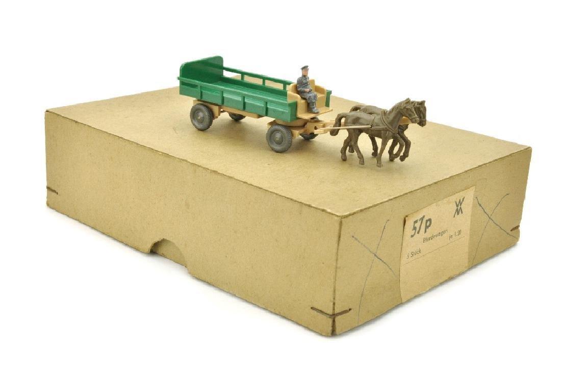 Haendlerkarton mit einem Pferdewagen (um 1960)