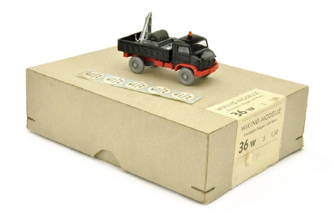Haendlerkarton mit einem Werkstattwagen (um 1965)