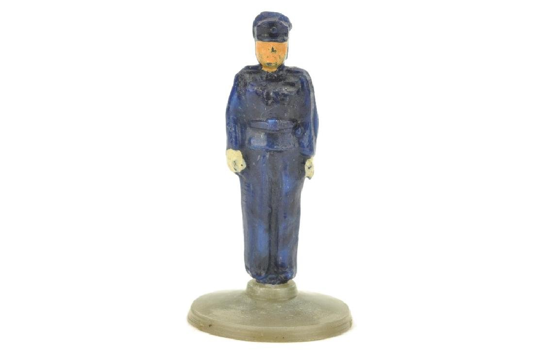 Polizist (Typ A), enzianblau