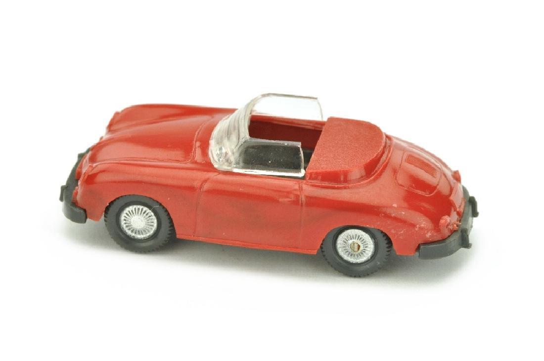 Porsche 356 Cabrio, rot/anthrazit - 2