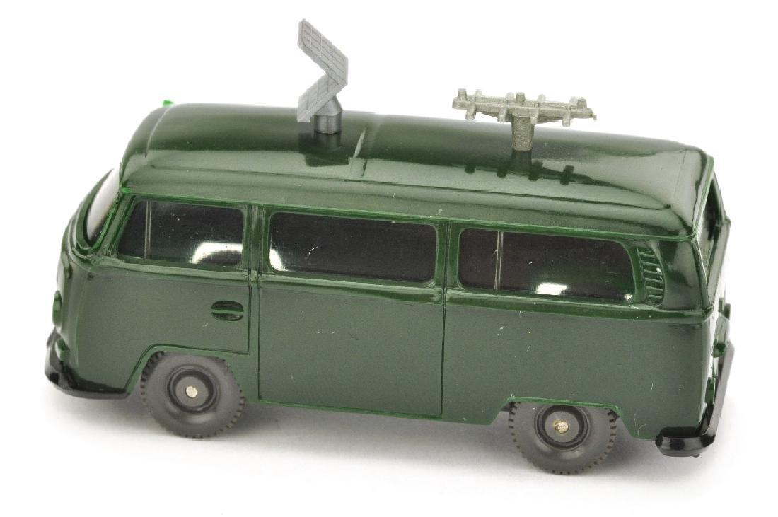 Polizeiwagen VW T2 mit Antennen, tannengruen - 2