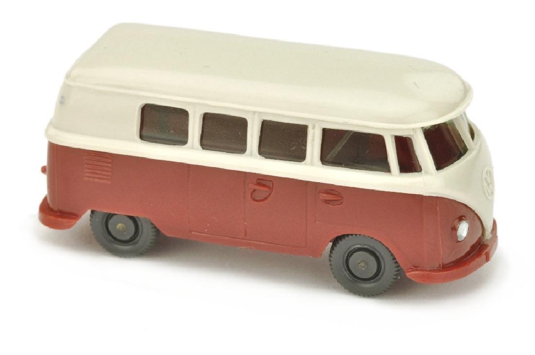 VW T1 Bus (alt), braunweiss/weinrot