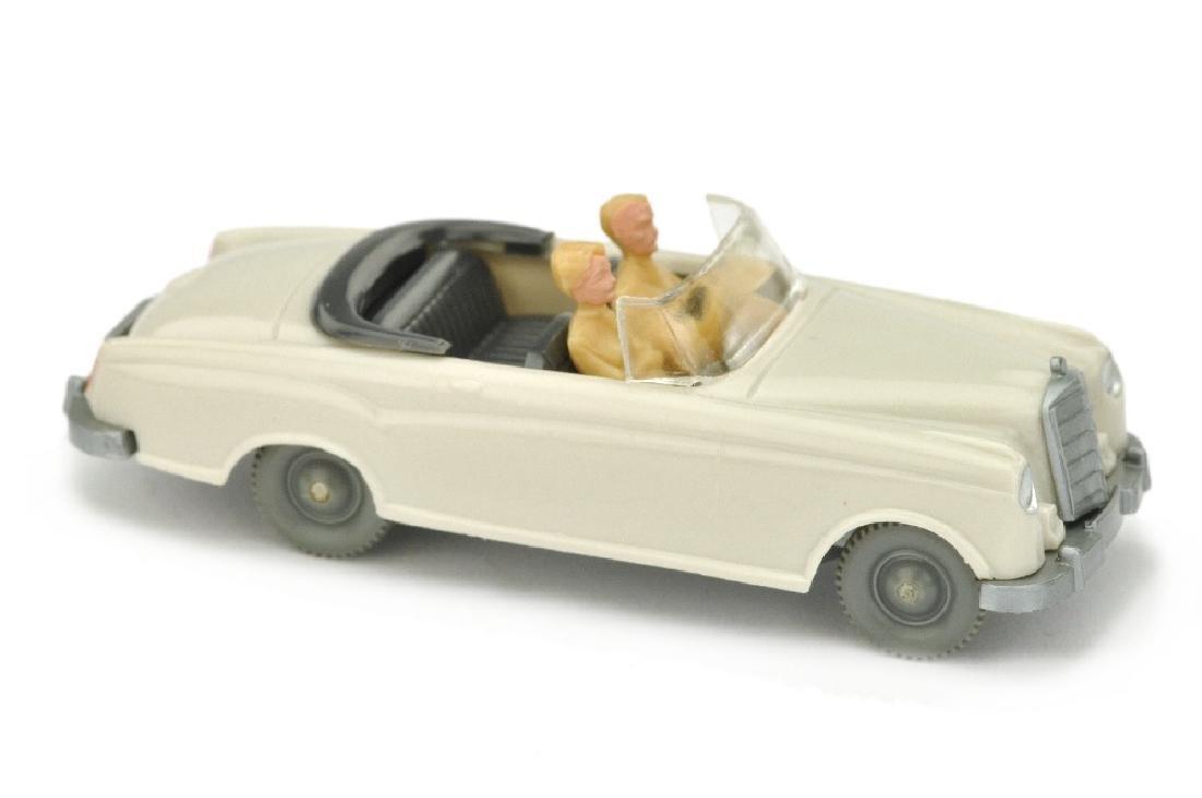 Mercedes 220 Cabrio, braunweiss