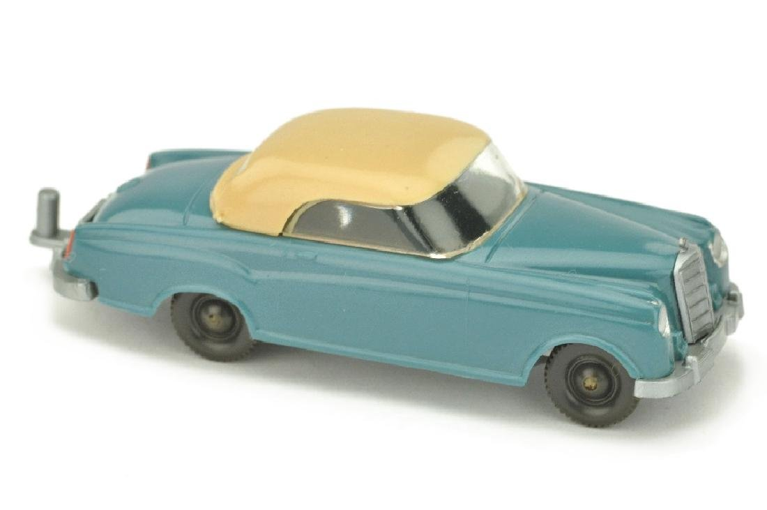 Mercedes 220 Coupe, diamantblau/beige
