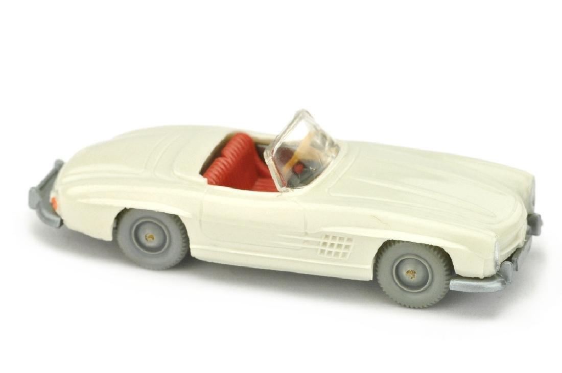 MB 300 SL Cabrio, perlweiss (ohne Figuren)