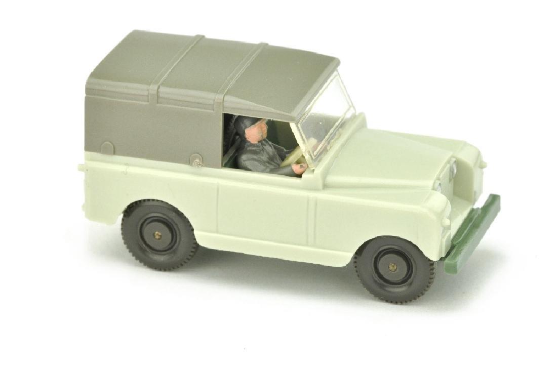 Land Rover, gruenlichbeige/dunkelresedagruen