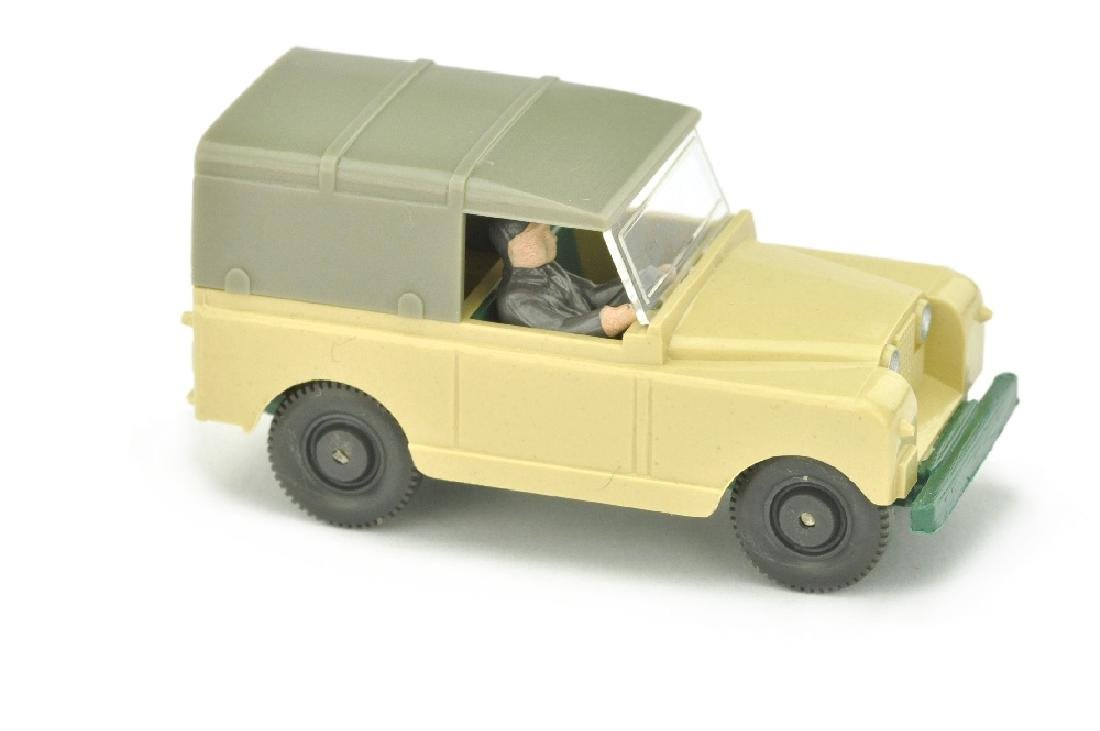 Land Rover, elfenbein/patinagruen