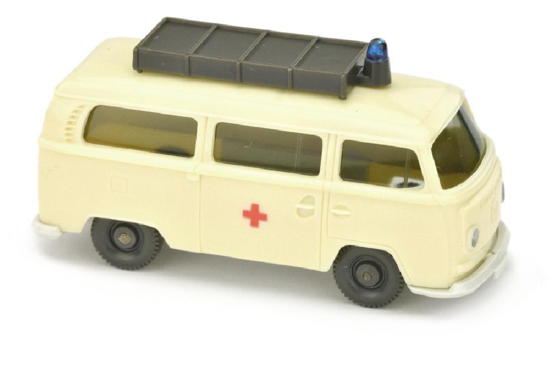 VW T2 Rotkreuz mit Aufbau, gelbelfenbein