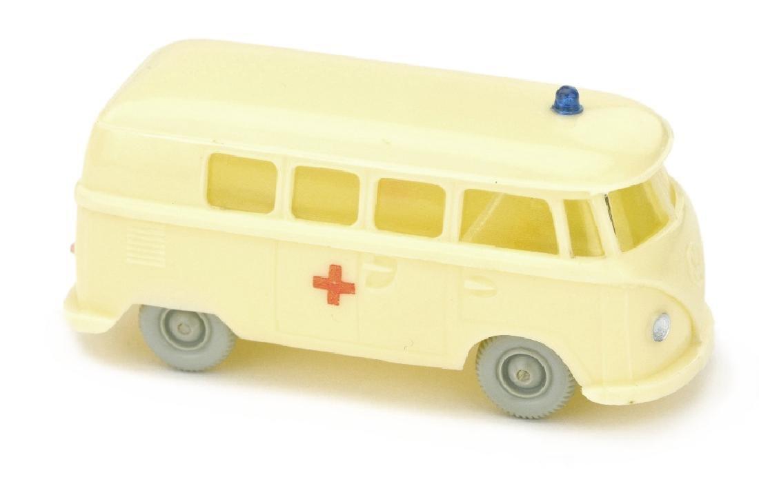 VW T1 Bus Rotkreuz, gelbelfenbein (Druck)