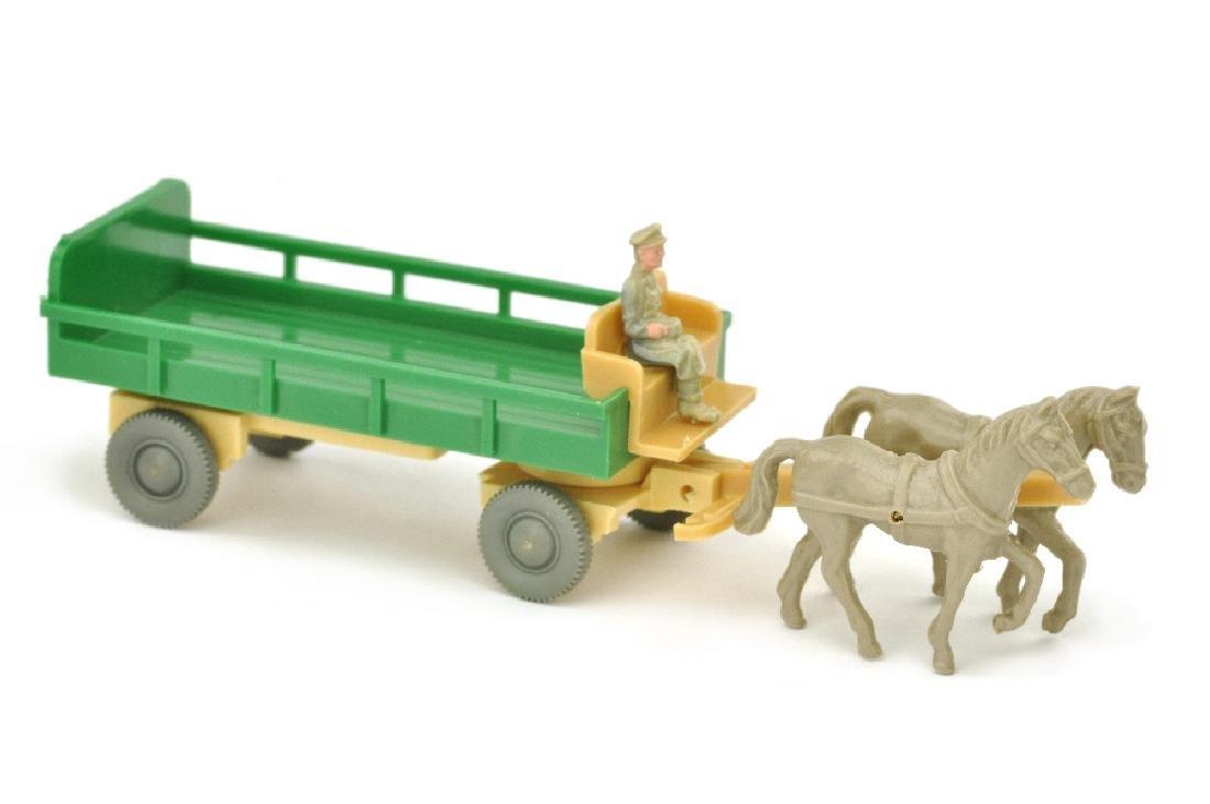 Pferdewagen (Typ 3), gruen/hellbeige