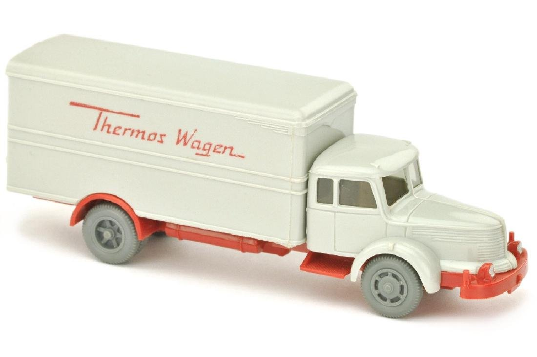 Thermos-Wagen Krupp-Titan, achatgrau/rot