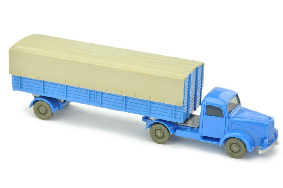 Pritschen-Sattelzug MB 5000, himmelblau