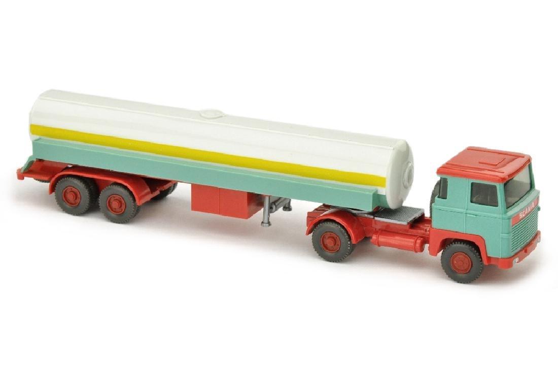 Tanksattelzug Scania 110, tuerkis/rot