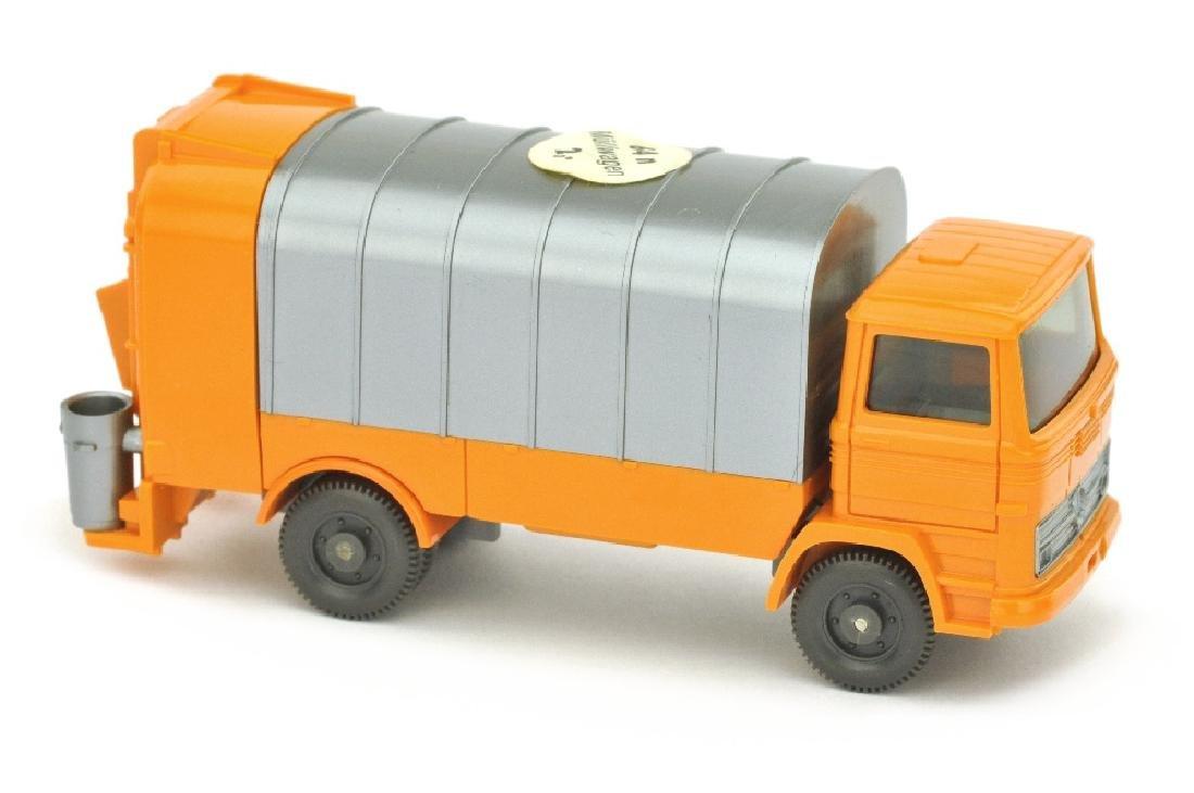 """Muellwagen MB 1317, gelborange (ohne """"KUKA"""")"""