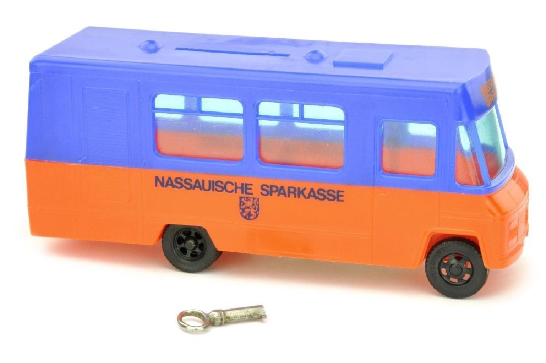 """SIKU - Sparbus Mercedes """"Nassauische Sparkasse"""""""