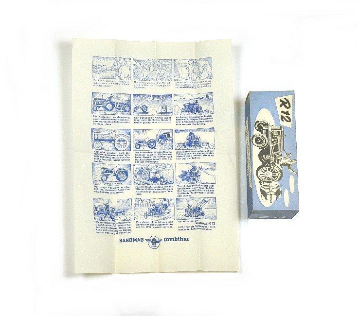 3516: Originalkarton u. Beiblatt für Hanomag R 12