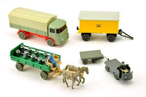 Konvolut 5 Modelle der 60er Jahre