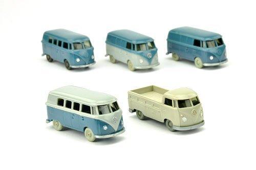Konvolut 5 VW T1 der 60er Jahre