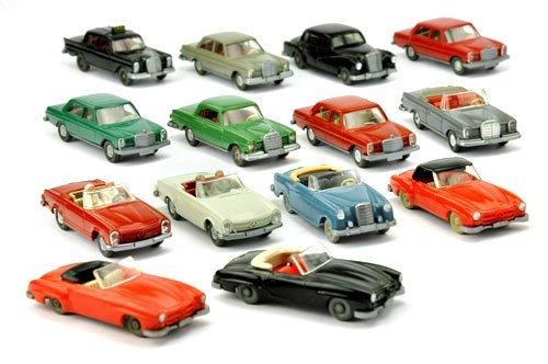 Konvolut 14 Mercedes-PKW der 60er/70er Jahre
