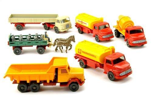 Konvolut 6 Modelle der 60er/70er Jahre