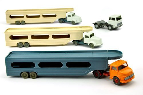 Konvolut 4+3 Zugmaschinen der 60er/70er Jahre