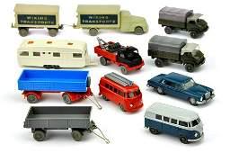 Konvolut 11 Modelle der 50er bis 70er Jahre