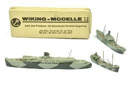 Konvolut 3 Schiffe tarnlackiert