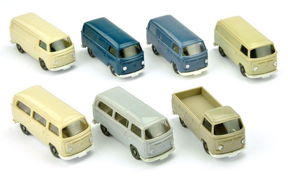 Konvolut 7 VW T2 der 70er Jahre
