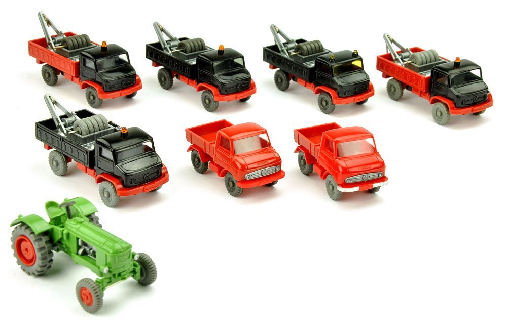 Konvolut 8 Unimog/Traktoren der 60er/70er J.