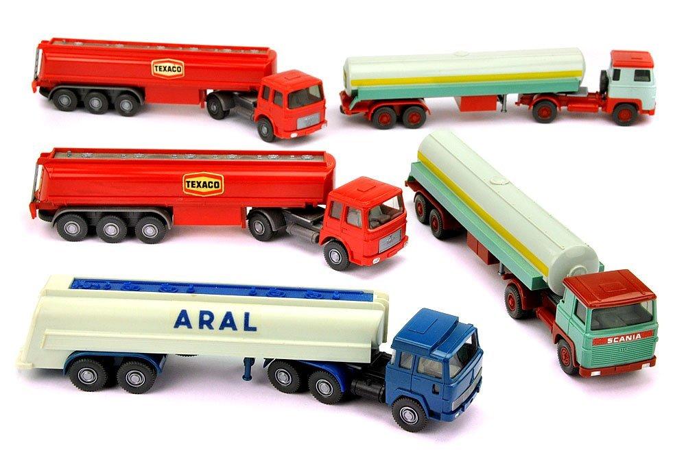 Konvolut 5 Tankwagen der 70er Jahre