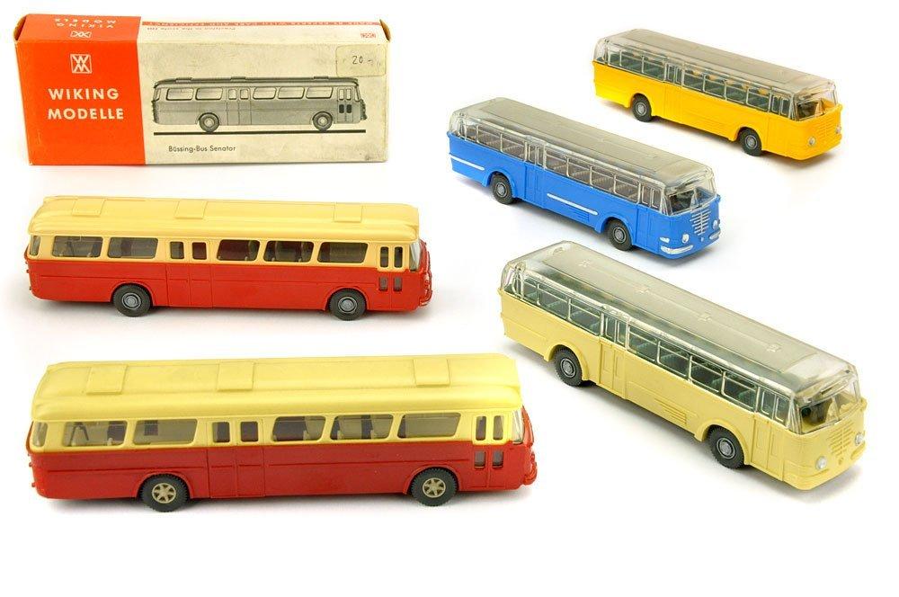 Konvolut 5 Omnibusse der 70er Jahre