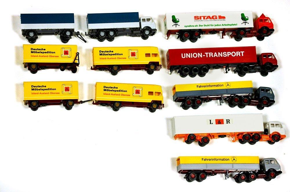 Konvolut 8 Werbemodell-LKW der 70er/80er J.