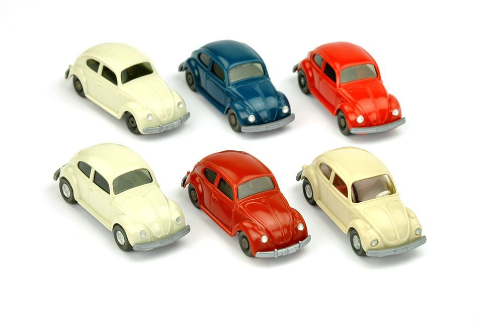 Konvolut 6 VW Käfer der 60er/70er Jahre
