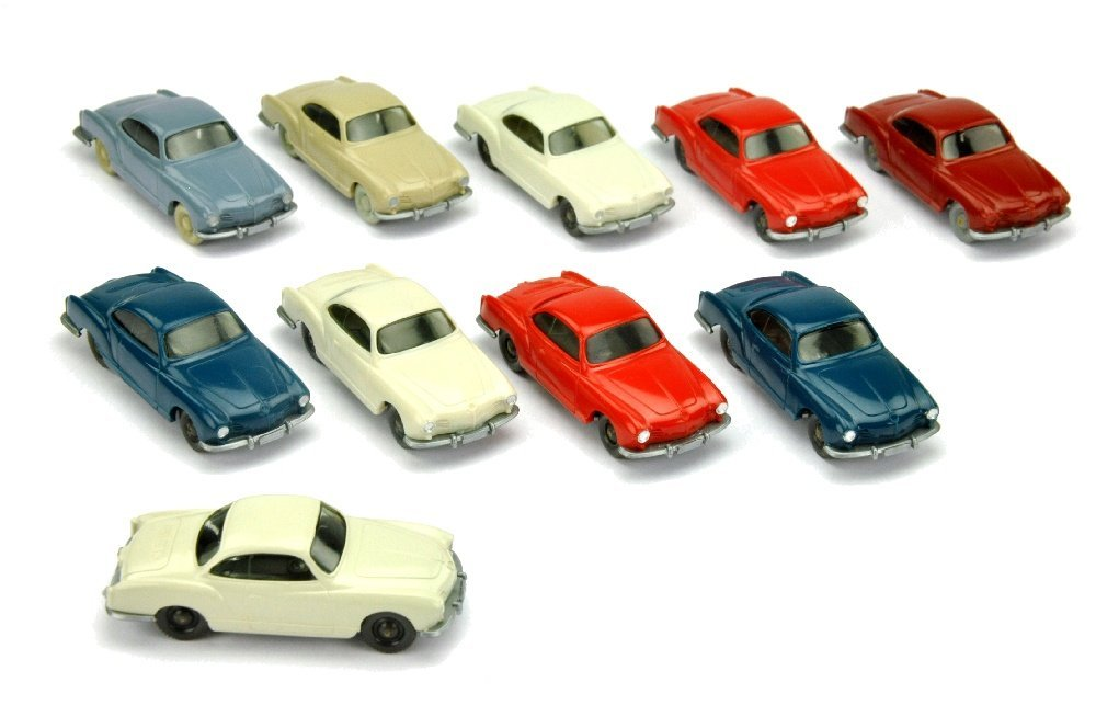 Konvolut 10 VW Karmann Ghia der 60er/70er Jahre