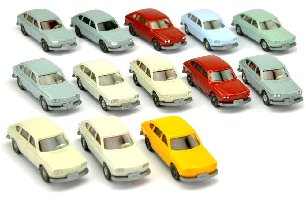Konvolut 13 VW 411 der 60er/70er Jahre