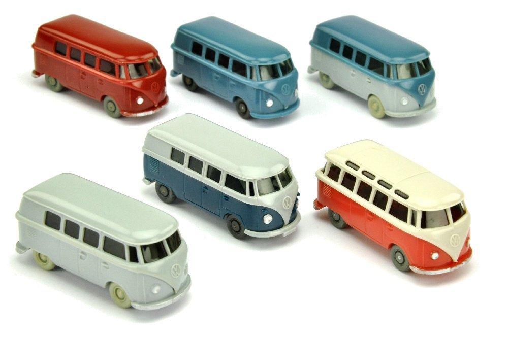 Konvolut 6 VW T1 der 60er Jahre